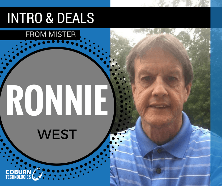 Ronnie West | Coburn Technologies Sales Rep